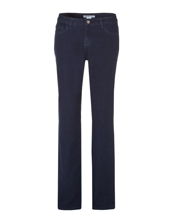 Curvy Fit Boot Leg Jean, Dark Indigo Denim, hi-res