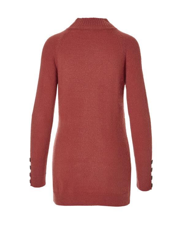 Mockneck Tunic Sweater, Terracotta, hi-res