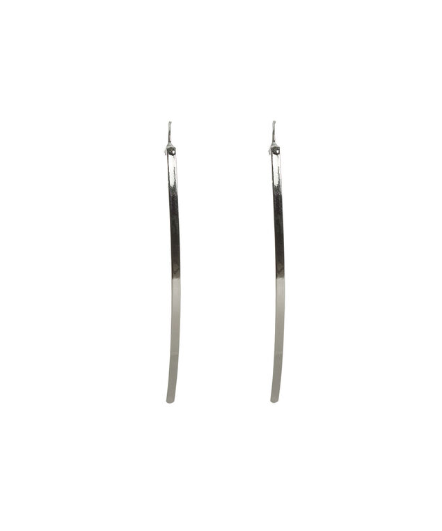 Straight Post Earring, Rhodium, hi-res