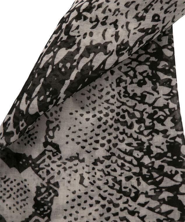 Snake Print Scarf, White/Black, hi-res