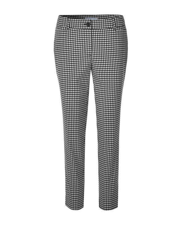 Gingham Every Body Ankle Pant, Black/White, hi-res