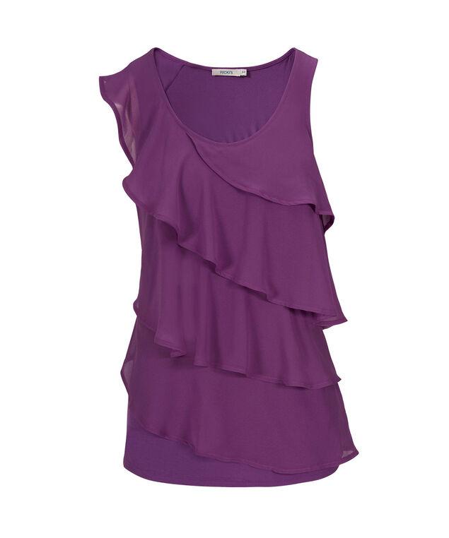 Ruffle Front Cha Cha, Purple, hi-res
