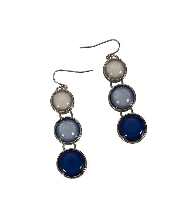 Ombre Stone Pendant Earring, Blue/Milkshake/Rhodium, hi-res