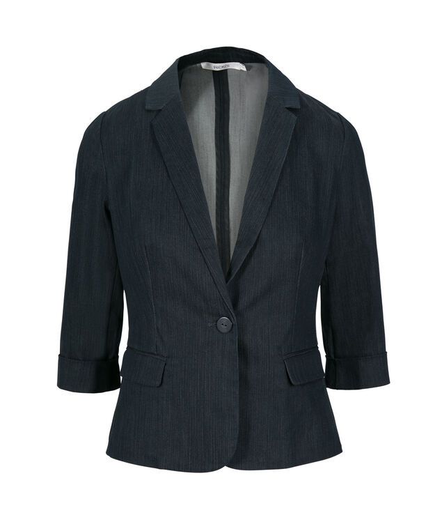 City Denim Blazer, Denim, hi-res