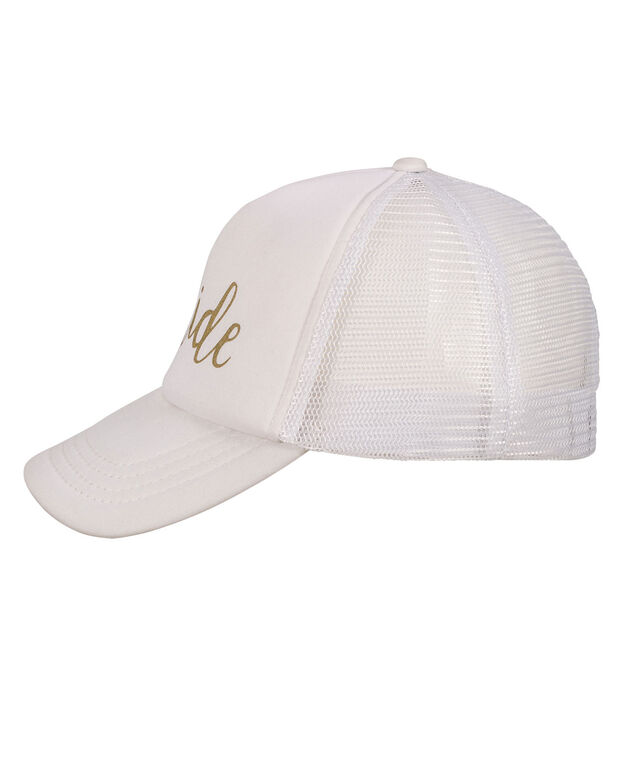 Bride Baseball Cap, White, hi-res