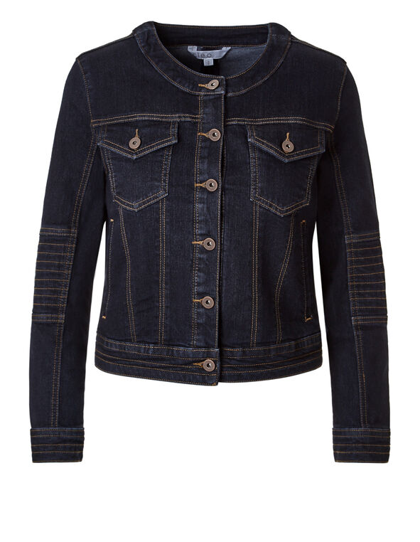 Dark Wash Moto Jacket, Dark Wash, hi-res