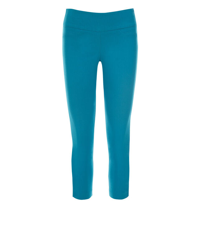 Microtwill Crop Super Slim Leg, Turquoise, hi-res