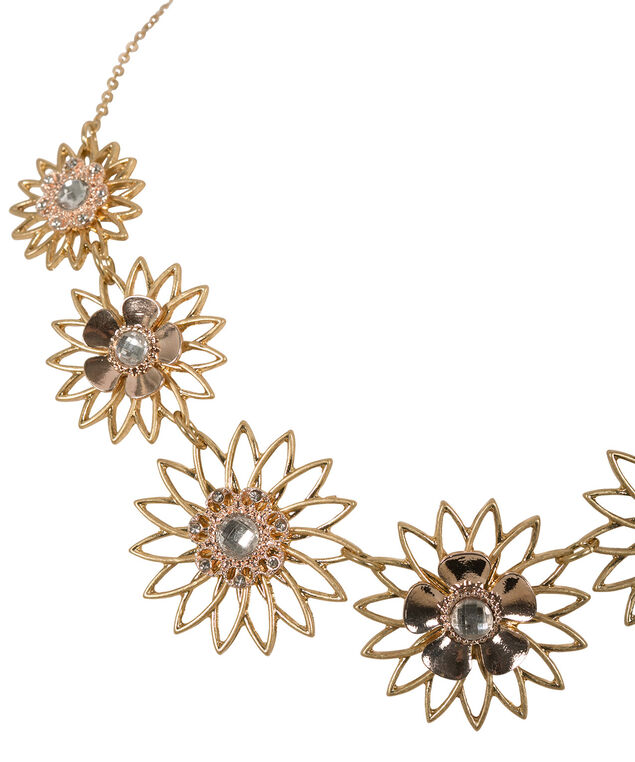 Daisy Chain Necklace, Soft Gold, hi-res