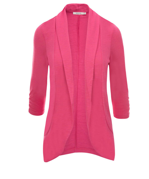 Shawl Collar Cover-Up, Vibrant Pink, hi-res