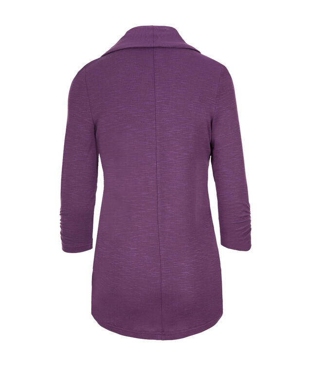Shawl Collar Cover Up, Purple, hi-res