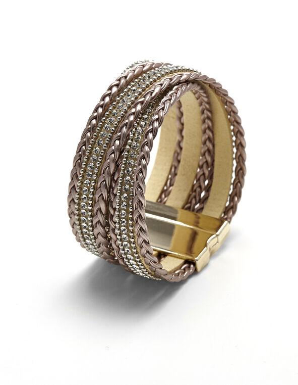 Bronze Wrap Cuff Bracelet, Bronze/Gold, hi-res