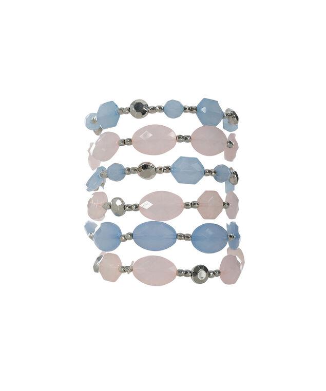 Pink & Blue Bracelet Set, Pink Blush/Misty Blue, hi-res