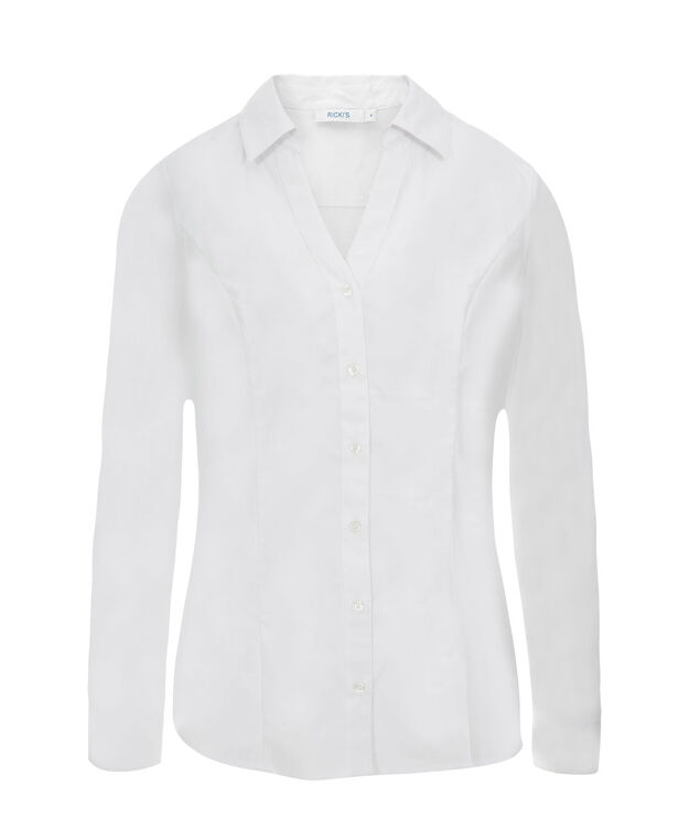 Collared Button Up Shirt, True White, hi-res