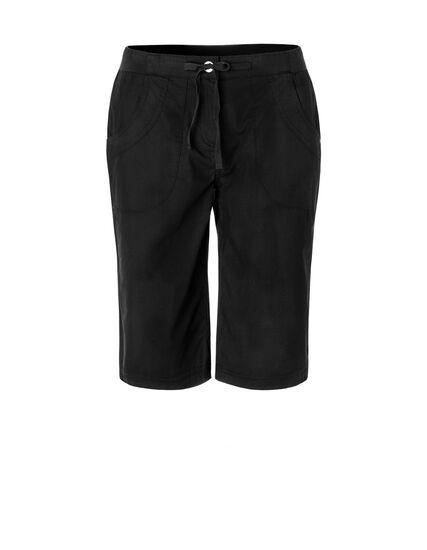 Black Poplin Pull On Short, Black, hi-res