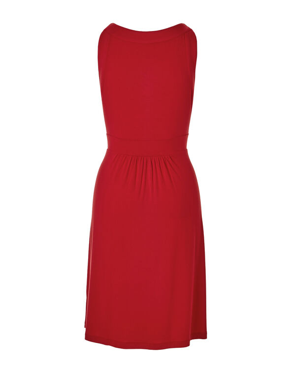 Red A-Line Dress, Red, hi-res
