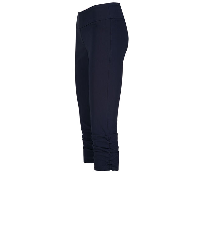 Microtwill Ruched Capri, Deep Blue, hi-res