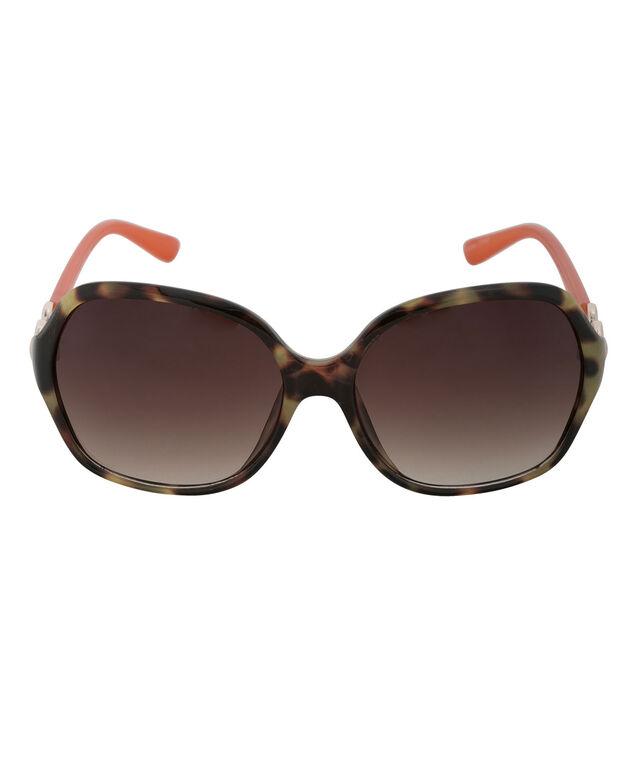 Animal Print Sunglasses, Brown/Tangerine, hi-res