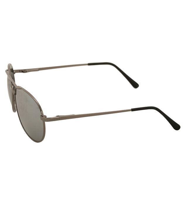 Mirror Aviator Sunglasses, Gunmetal, hi-res