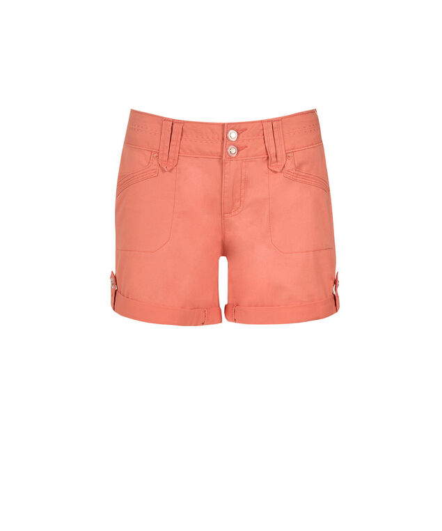 One5One Coral Cuffed Short, Coral, hi-res