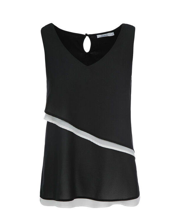 Colourblock Cha Cha, Black/Ivory, hi-res