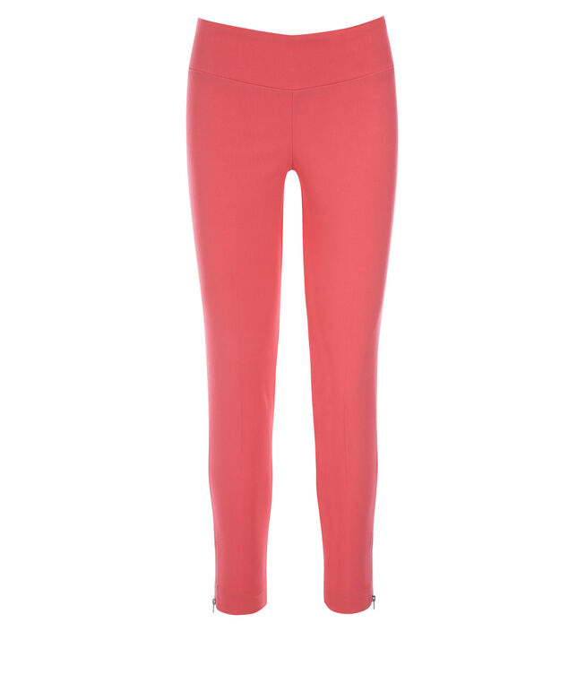 Microtwill Ankle Super Slim Leg, Coral, hi-res