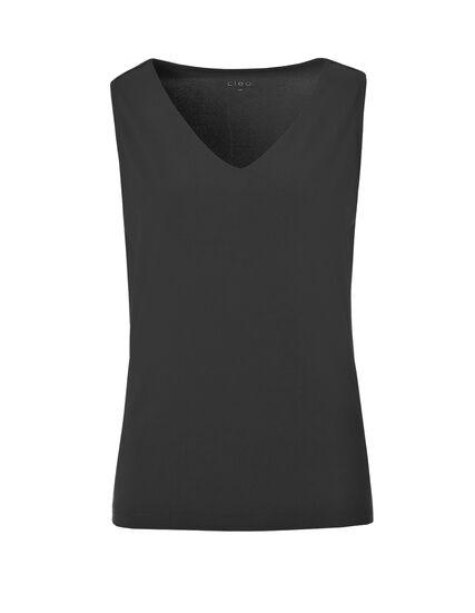V-Neck Essential Layering Top, Black, hi-res