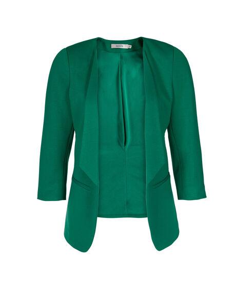 Knit Drape Front Blazer, Clover, hi-res