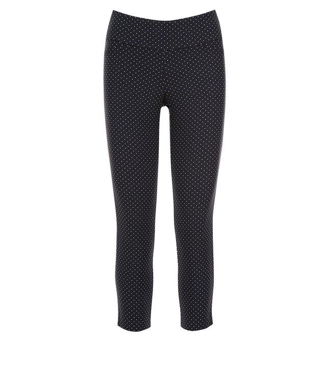 Microtwill Crop Super Slim Leg, Navy Dot Print, hi-res
