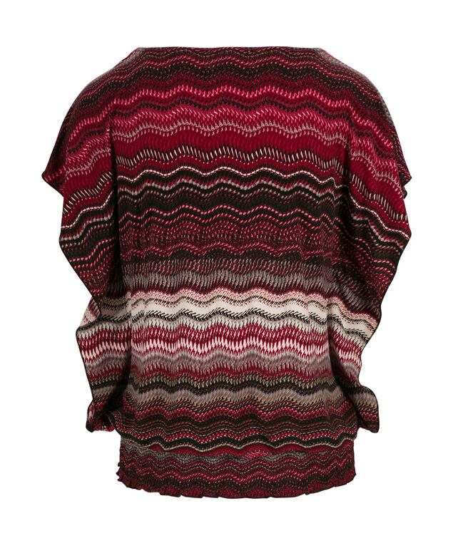 Knit Extended Sleeve, Mid Pink Print, hi-res