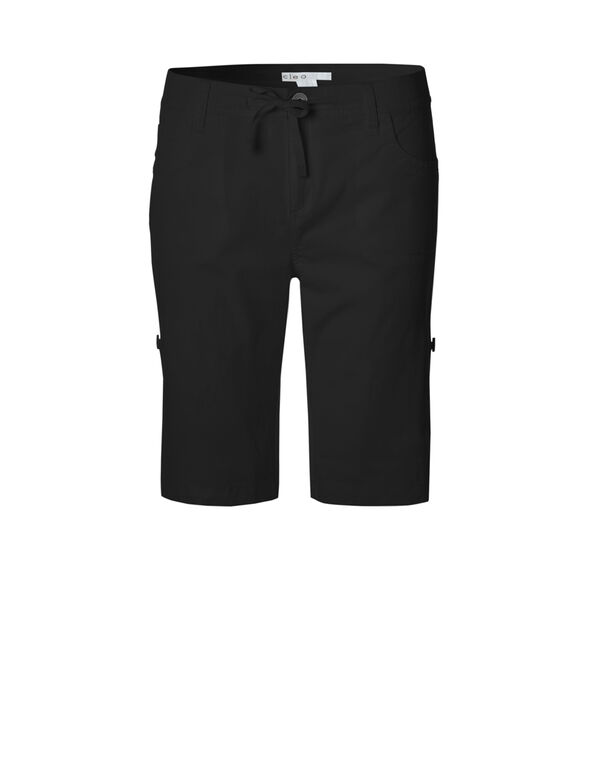 Black Roll-Up Short, Black, hi-res