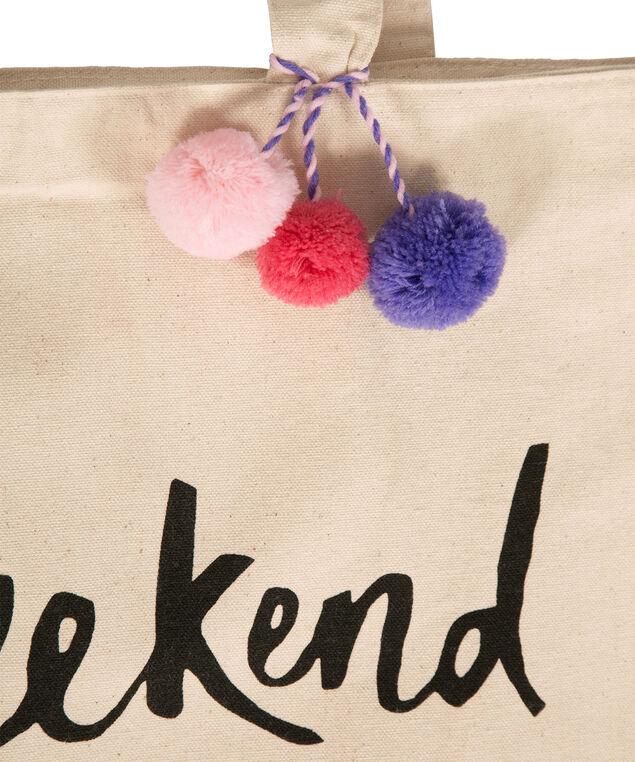 #Weekend Tote Bag, Natural, hi-res