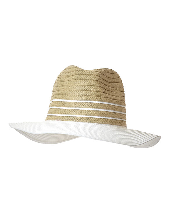 White Sun Hat, Natural/White, hi-res
