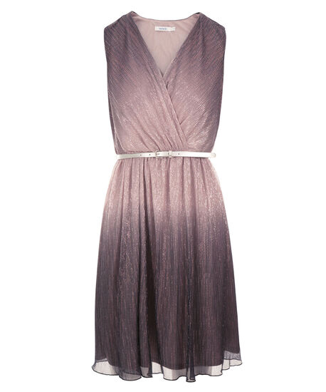 Ombre Pleated Dress, Light Pink/Purple, hi-res