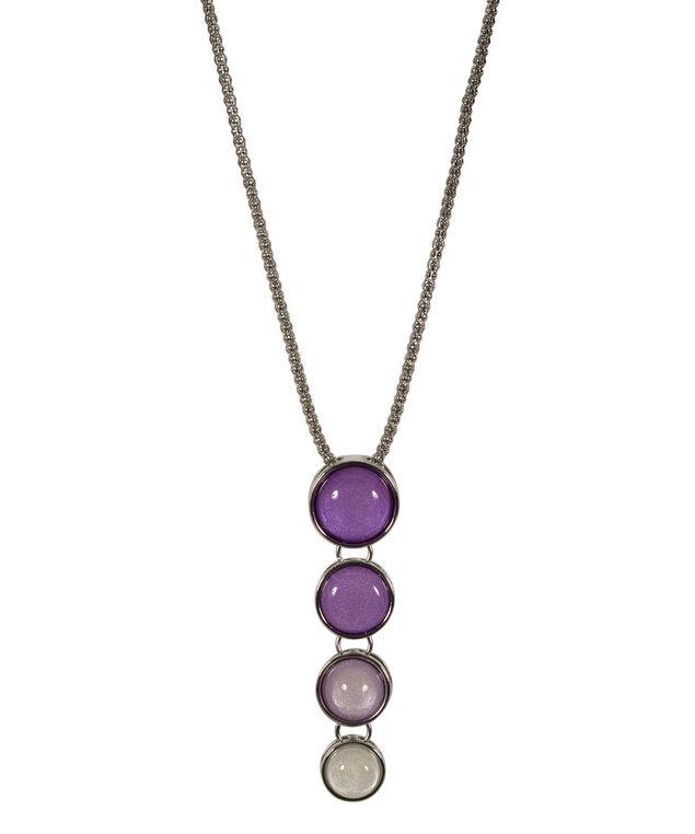 Ombre Stone Pendant Necklace, Violet/Rhodium, hi-res