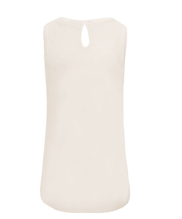 Shoulder Detail Tank, Neutral/Soft Pink Print, hi-res