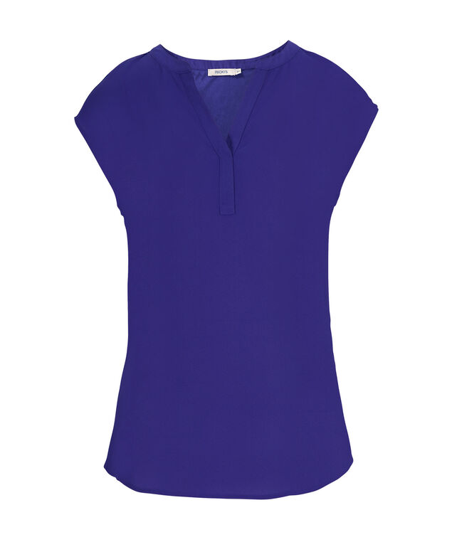 Henley Extended Sleeve, Ultra Blue, hi-res