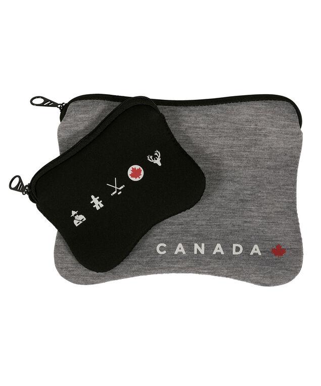 Canada Travel Pouches, Black/Grey, hi-res