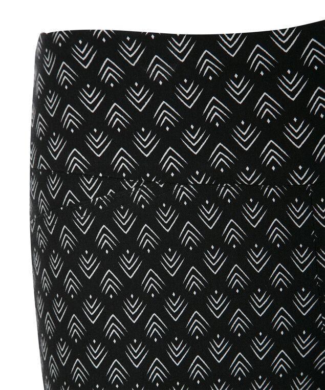 Microtwill Crop Super Slim Leg, Black/White, hi-res