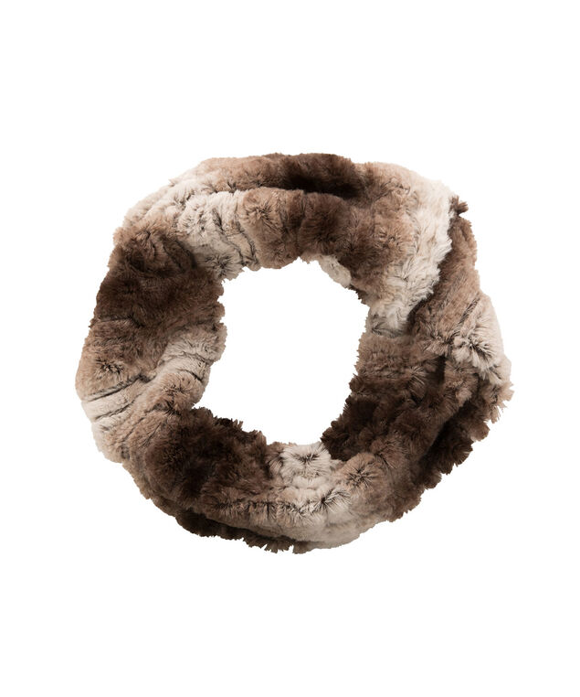 Plush Ombre Snood, Brown Mix, hi-res