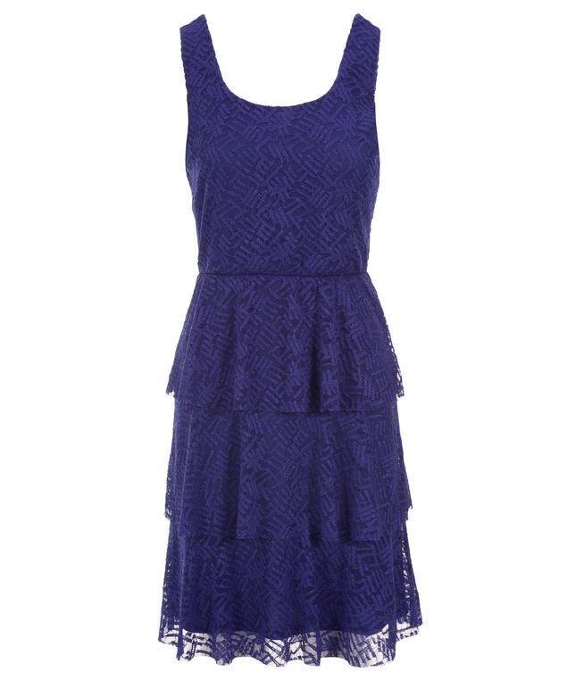 Burnout Cha Cha Dress, Royal Blue, hi-res