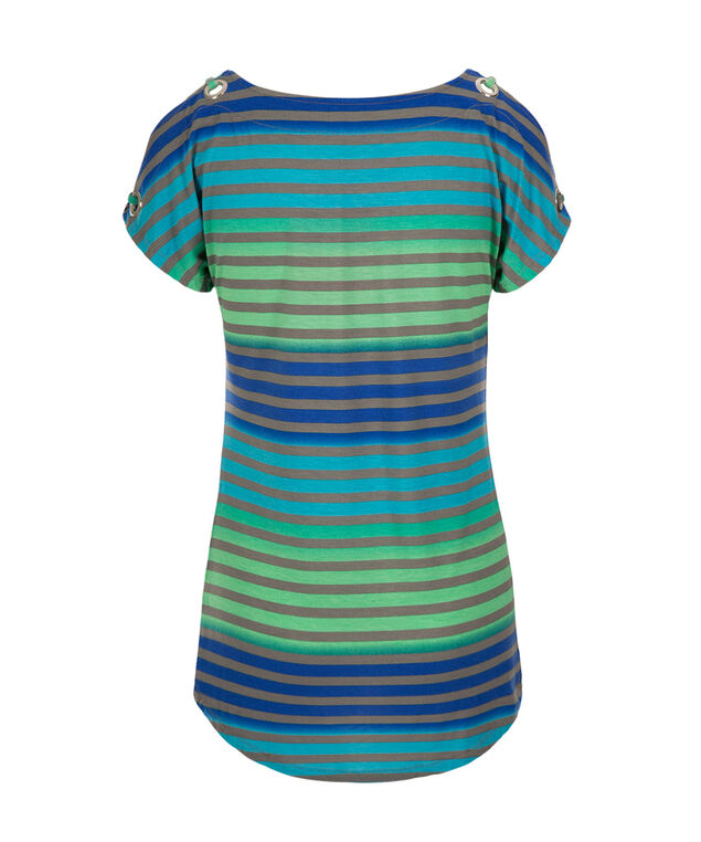 Grommet Cold Shoulder, Marine Blue Pattern, hi-res