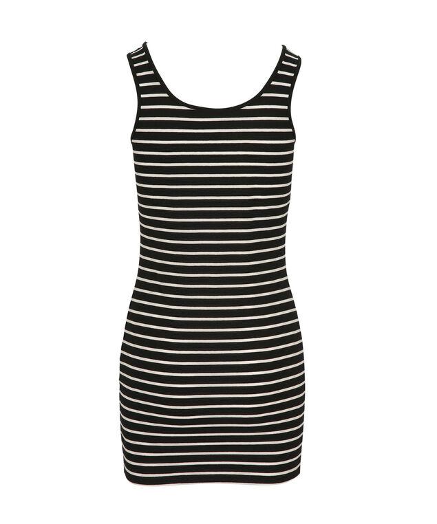 Tunic Length Cami, White/Black, hi-res