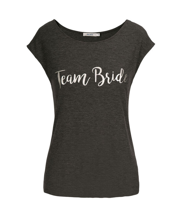 Team Bride Tee Shirt, Charcoal, hi-res