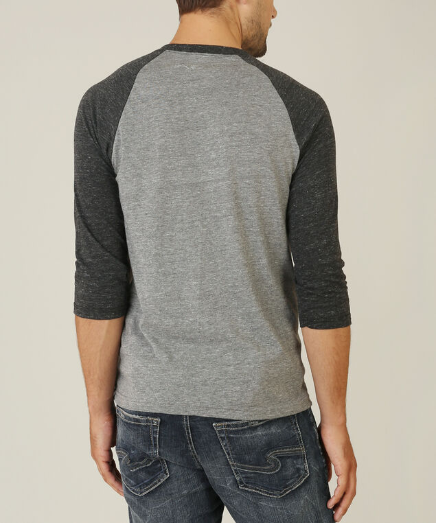 3/4 sleeve graphic tee - wb, GREY ONYX, hi-res