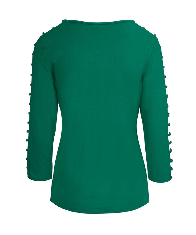 Cage Sleeve Top, Jade Green, hi-res