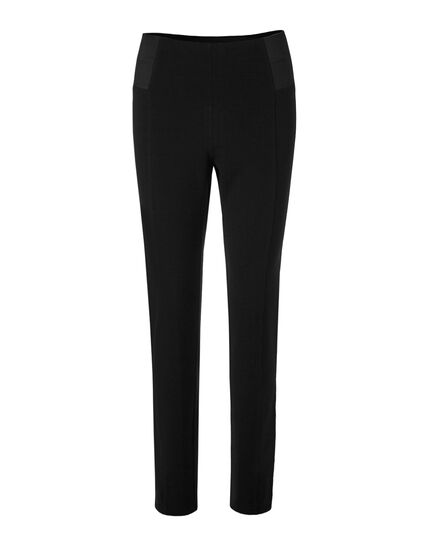 Black High Waist Pull-On Legging, Black, hi-res