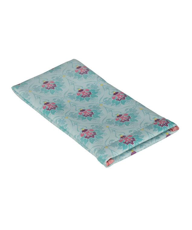 Printed Sunglass Case, Teal/Pink, hi-res