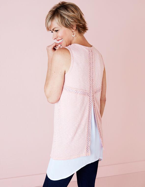 Soft Pink Crochet Sharkbite Top, Soft Pink, hi-res