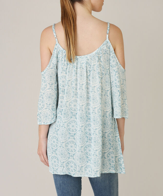 cold shoulder top - wb, LIGHT BLUE, hi-res