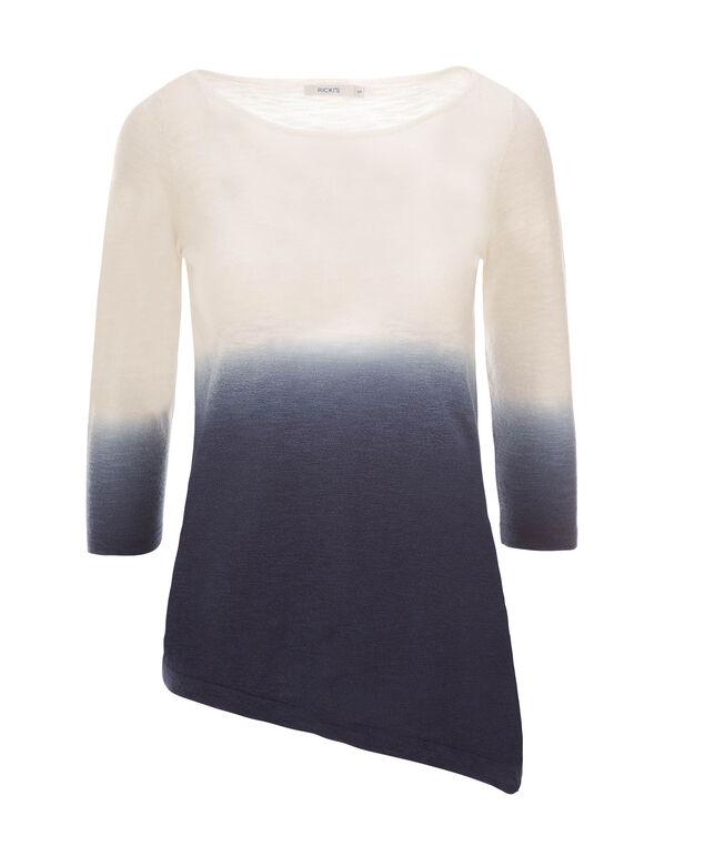 Dip Dye Slub Pullover, Deep Blue, hi-res